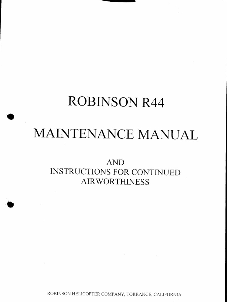 R44 maintenance manual complete helicopter rotor helicopter sciox Image collections