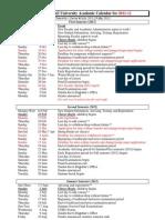Academic Calendar 2011-12