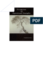 Progress of Spiritual Insight