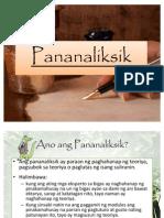 Pananaliksik for Mr. Tiongson