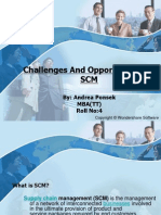 Challenges and Opportunities of SCM