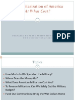 The Militarization of America - At What Cost?
