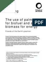 Palm Oil Biofuel Position