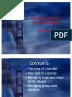 W5 Developing Classroom Skills