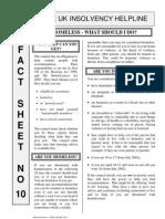 debt advice - homeless_what_should_i_do