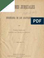 Guevara - 1904 - Costumbres judiciales i enseñanza de los Araucanos