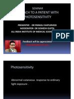 Approach To Photosensitivity - Dr Pankaj AIIMS, New Delhi