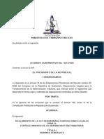 to de La Ley Fortalecimiento de La Administración Tributaria 20-2006