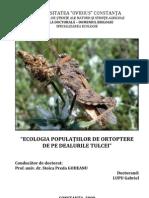 """""""ECOLOGIA POPULATIILOR DE ORTOPTERE  rezumat-lupu"""