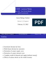 Lecture Notes EC3102 06 Two Period Model Inv Handout
