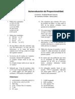 Autoevaluación de proporcionalidad 1º ESO