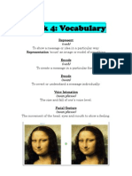 Week 4 Vocabulary