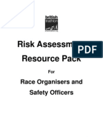 Risk Assesment Pack and Forms British Trathlon 2006