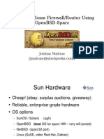 Building a Home Firewall-Router Using Openbsd-Sparc