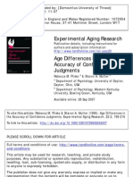 Age Differences in the Accuracy of Confidence Judgments