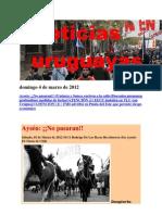 Noticias Uruguayas Domingo 4 de Marzo de 2012