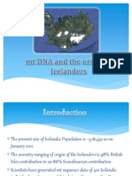 Mt DNA Origin of the Icelanders