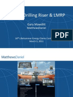 Marine Drilling Riser and LMRP