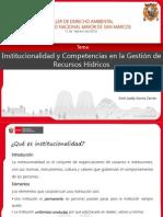 Institucionalidad y Competencias