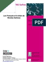 Les Français et le bilan de Sarkozy