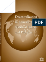 Decentralization in Education- National Policies and Practices