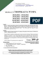 Majówka wycieczki oferta dla firm 2012