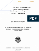 Mariluz Urquijo - 1973 - El derecho prehispánico y el derecho indiano como