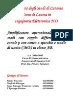 Progettazione Amplificatore Operazionale in teconologia CMOS