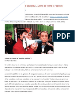 Pierre Bourdieu - Como Se Forma La Opinion Publica
