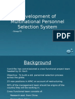 Development of Multinational Personnel Selection System