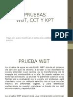 Pruebas Wbt, Cct, Kpt