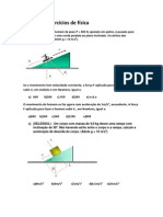 Lista de exercícios de física  tucumã