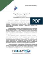 Comunicado N°1 Apoyo Mov Social por Aysén
