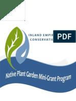 Native Plant Garden Mini-Grant Opportunity