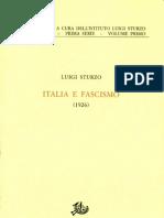 Sturzo, Luigi-Italia e Il Fascismo