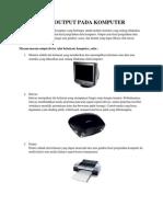 Alat Output Pada Komputer