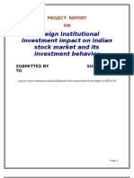 2224. Foreign Institutional Investment [Fii] Impact on Indian Stock Market and Its Investment Behavior [Fin]