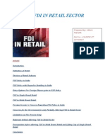 FDI in Retail Sector in Final)
