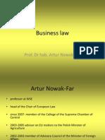 Business Law Course PDF