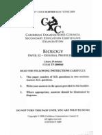 Biology 09 p2 Csec