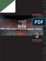 AC Milan Bilancio (Accounts and Report) 2006