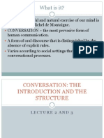 Conversational Structure (Lecture 2 & 3)
