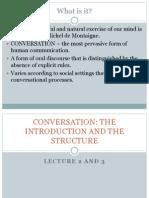 Conversational Structure (Lecture 2 & 3)
