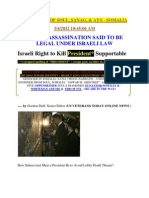 Obama Assassination Said to Be Legal Under Israeli Law