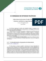 IV Jornadas de Estudios Políticos 2012 1ª CIRCULAR