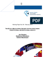 EU as a Multilateral Security Actor