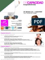 Folleto - Programa Congreso Sindrome UP (realizado por Los ESpcpieALISTAS
