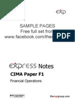 Cima f1 2012 Notes