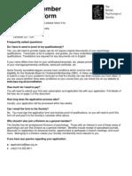 Graduate Member Application Form
