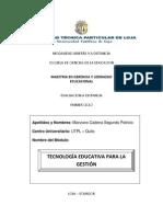 PREGUNTA Nº2 - TECNOLOGIA EDUCATIVA